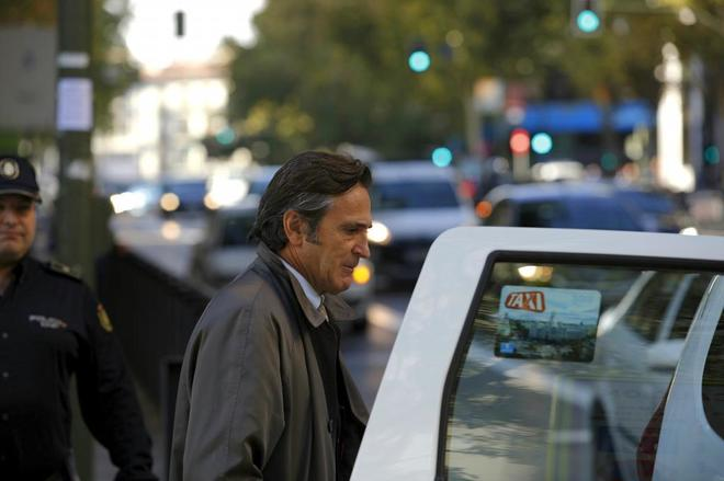 Josep Pujol Ferrusola saliendo de la Audiencia Nacional.