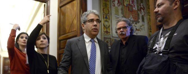 Francesc Homs, ayer, en el Congreso de los Diputados.