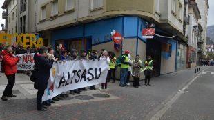 Manifestación en contra de las detenciones por agresión a los...