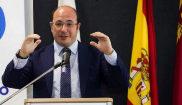 El presidente de Murcia, Pedro Antonio Sánchez, en un acto en Molina...