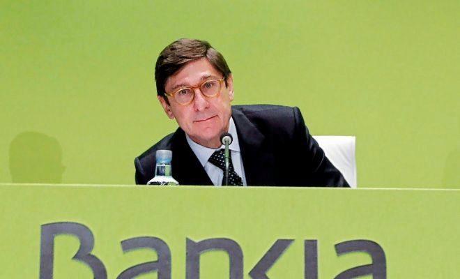 José Ignacio Goirigolzarri, presidente de Bankia, durante la última junta general de accionistas.