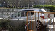 El vehículo en el que ha llegado Francisco Correa a la Audiencia...