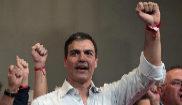 Pedro Sánchez en un reciente acto con militantes socialistas en...