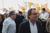 Francesc Homs y Artur Mas, este sábado, en un acto del PDeCAT en...