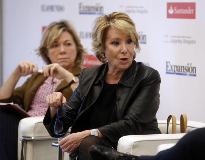 Esperanza Aguirre, en un acto del III Foro Pensar en España, el pasado febrero.