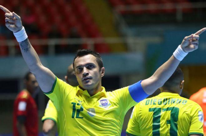 Falcao celebra el gol ante Mozambique que le colocó como máximo goleador de los Mundiales.