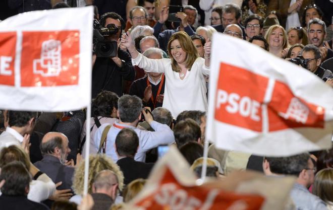 La presidenta de Andalucía, Susana Díaz, el pasado domingo, en la presentación de su candidatura a las primarias del PSOE.