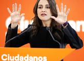 Inés Arrimadas, portavoz de Ciudadanos, ayer, tras la ejecutiva del...