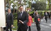 El presidente Mariano Rajoy acude a un foro con empresarios catalanes...
