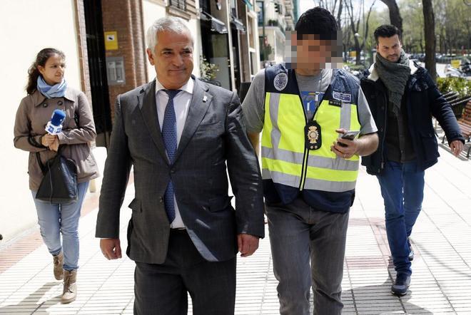 El presidente de Ausbanc, Luis Pineda, el día de su arresto.