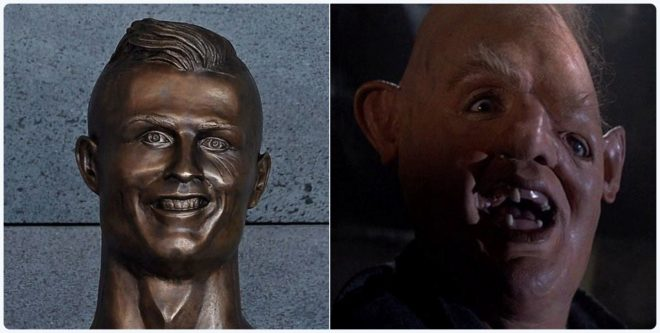 El busto de Cristiano Ronaldo, pichichi de memes y bromas en las redes