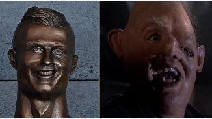 El busto de Cristiano, pichichi de memes y bromas en las redes
