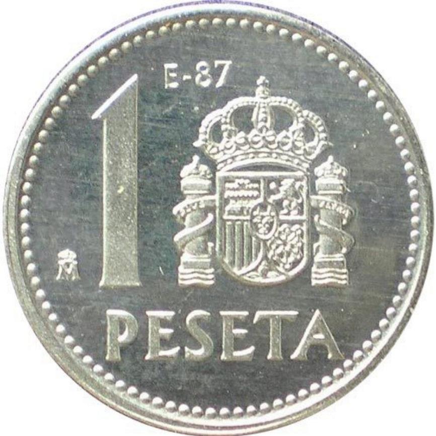En 1982, se sustituyó la famosa peseta rubia por nuevas...