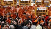 Manifestación de la Asociación Unificada de Militares (Aume), en...