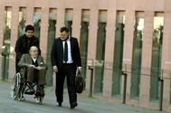El ex presidente del Palau de la Música Fèlix Millet llega a la Ciutat de la Justicia.