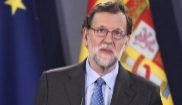 Mariano Rajoy durante la rueda de prensa junto con el primer ministro...