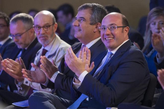 El presidente del PP de Murcia, Pedro Antonio Sánchez, en un acto en...