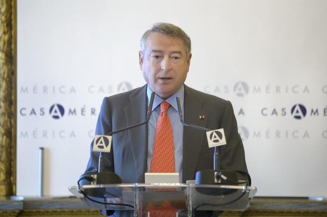 El presidente de RTVE, José Antonio Sánchez, durante su conferencia...