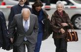 Jordi Pujol y Marta Ferrusola llegando a la Audiencia Nacional para...
