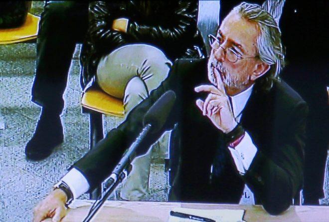 Imagen de la declaración de Francisco Correa en el juicio del 'caso...