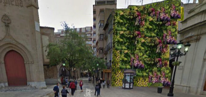 Cerca de 90 ideas vecinales pasan la segunda criba en for Jardin vertical castellon