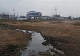 Aguas residuales provenientes del complejo industrial Guddapatharam,...