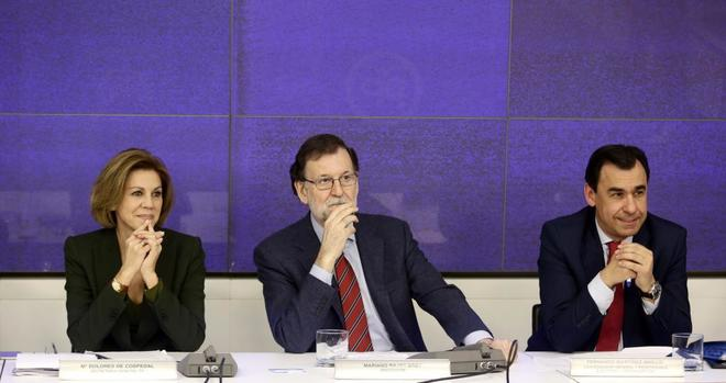 María Dolores de Cospedal, Mariano Rajoy y Fernando...