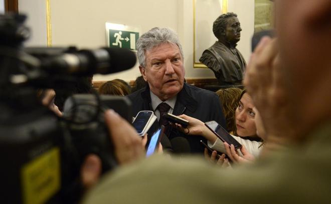 Pedro Quevedo, diputado de Nueva Canarias, en los pasillos del Congreso.