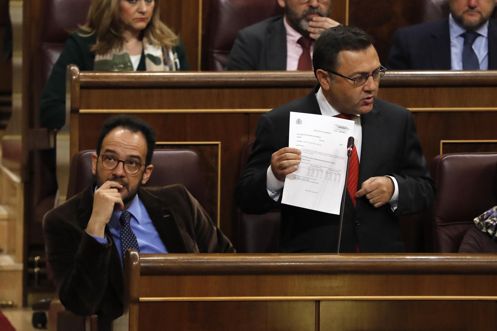 Miguel Ángel Heredia, durante una intervención en el Congreso de los Diputados.