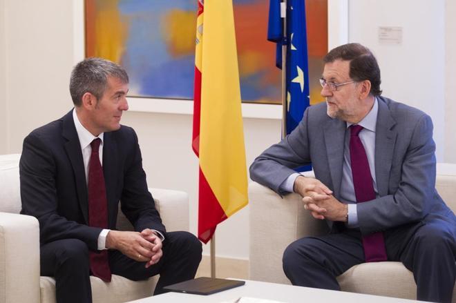 Fernando Clavijo, durante su reunión con Mariano Rajoy en Moncloa en julio de 2016.