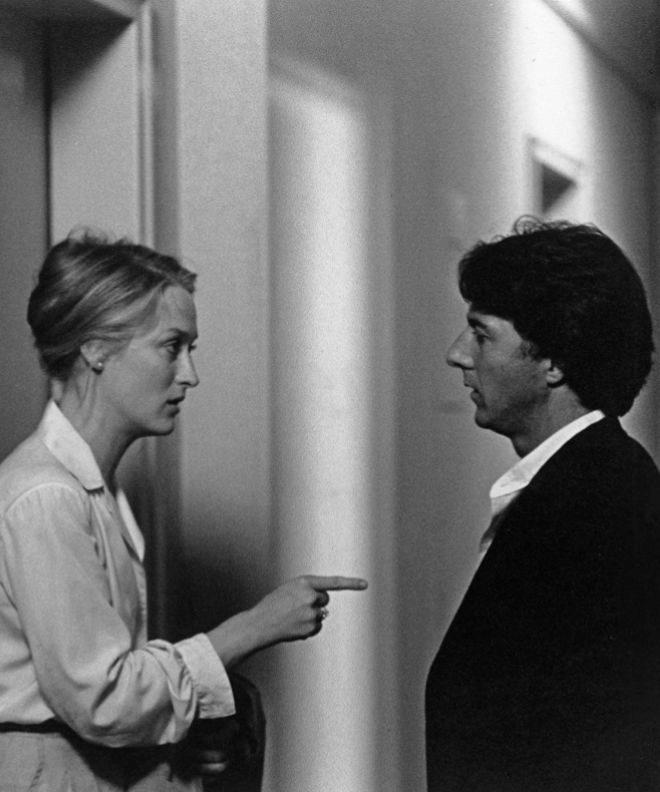 Meryl Streep y Dustin Hoffman en un fotograma de Kramer contra...