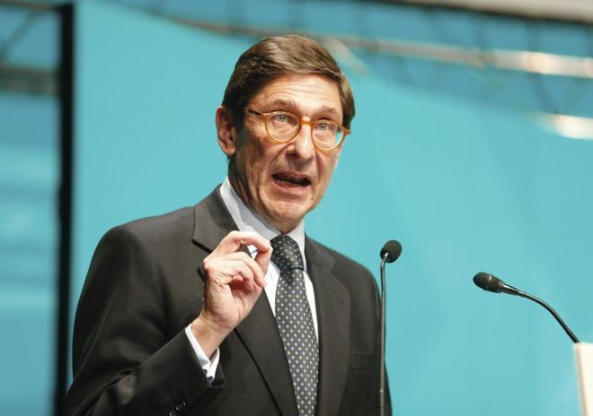 El presidente de Bankia, José Ignacio Goirigolzarri, durante el XXVIII Encuentro Empresarial Elkargi.