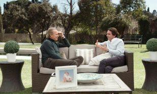 José María Aznar junto a Bertín Osborne durante la grabación del...