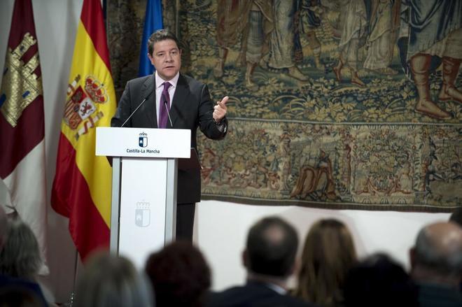 El presidente de Castilla-La Mancha, Emiliano García-Page, en un...