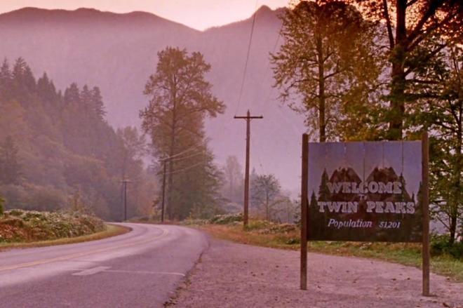 Imagen de la cabecera de la serie 'Twin Peaks'.