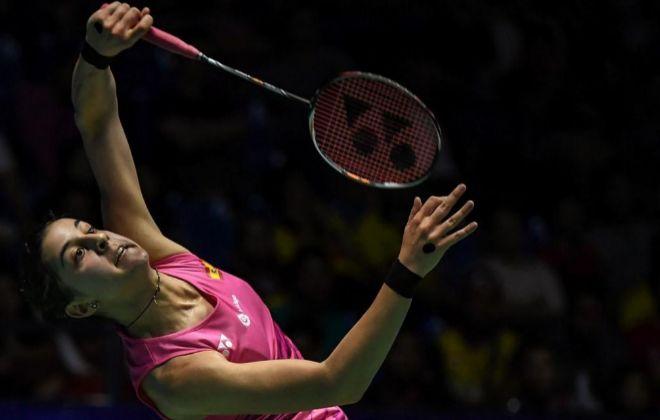 Carolina Marin, ante Nozomi Okuhara, en el Open de Malasia.