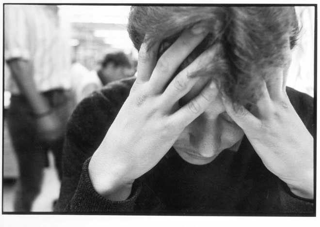 Un joven aquejado de depresión.