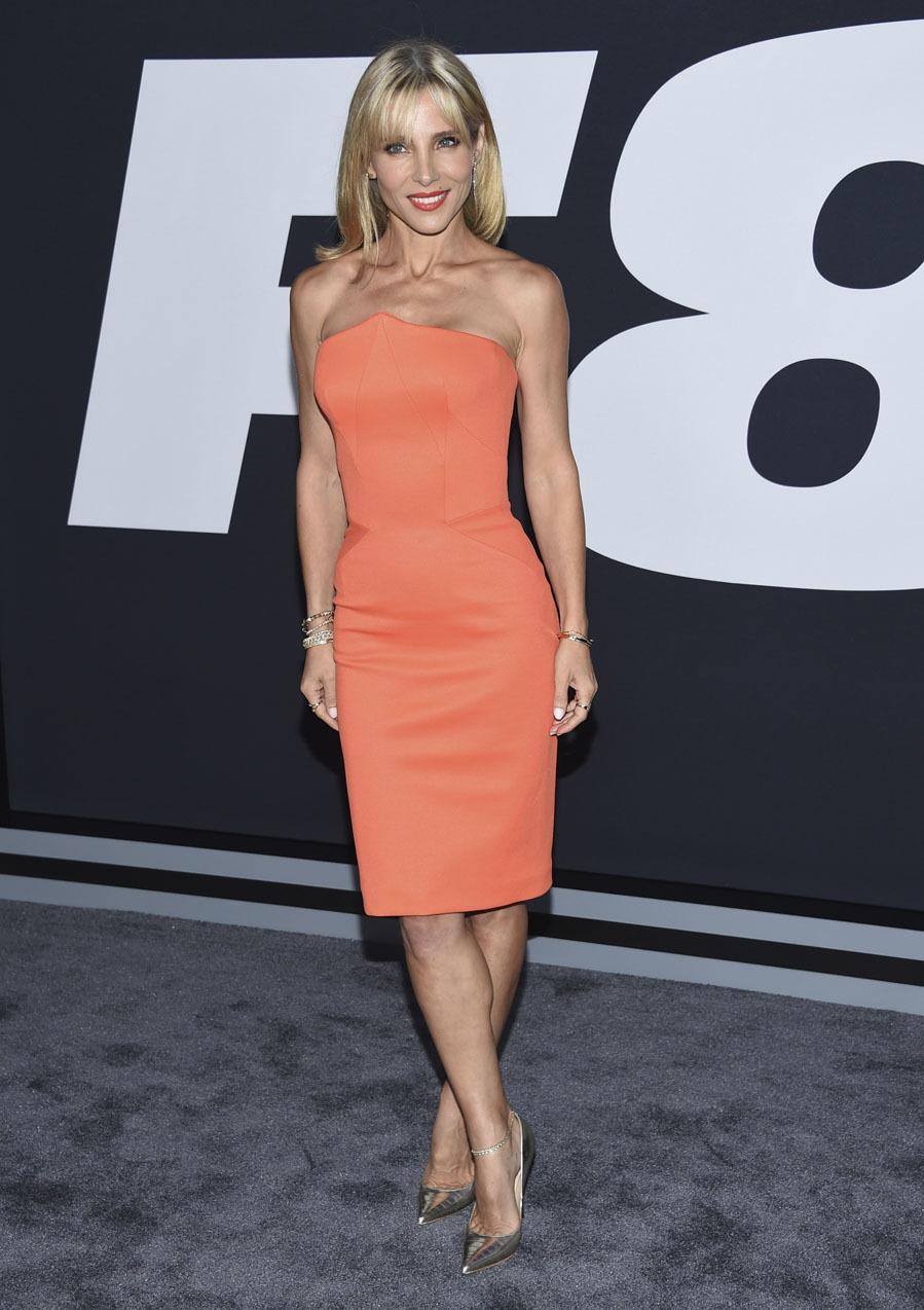 La actriz deslumbró en la premiere de Fast & Furious 8 en Nueva...