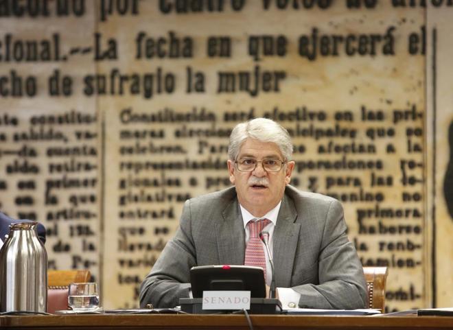 El ministro de Asuntos Exteriores, Alfonso Dastis, comparece hoy ante...