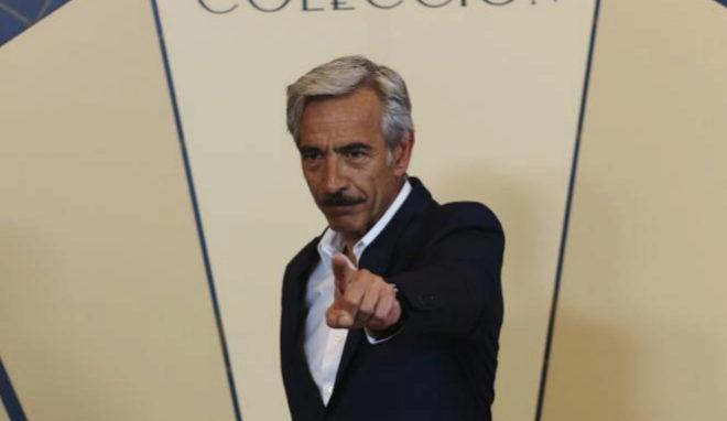 El actor Imanol Arias en la presentación de 'Velvet colección'.