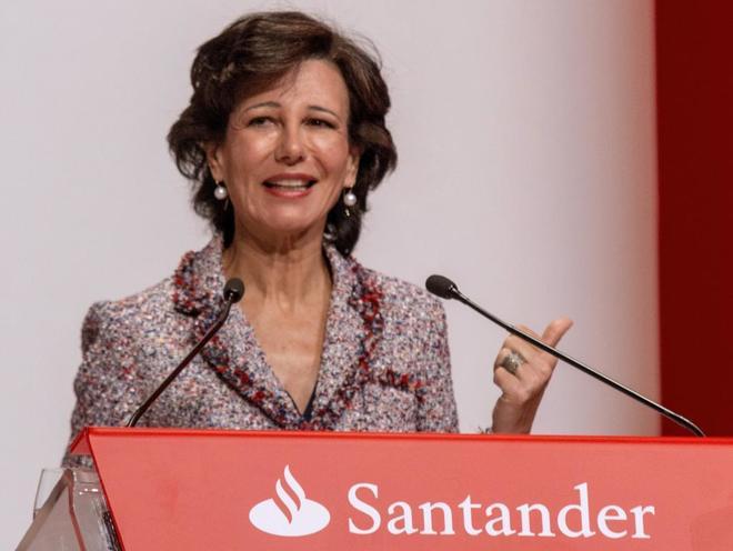 La presidenta del Banco Santander, Ana Botín, durante la última Junta General de Accionistas.