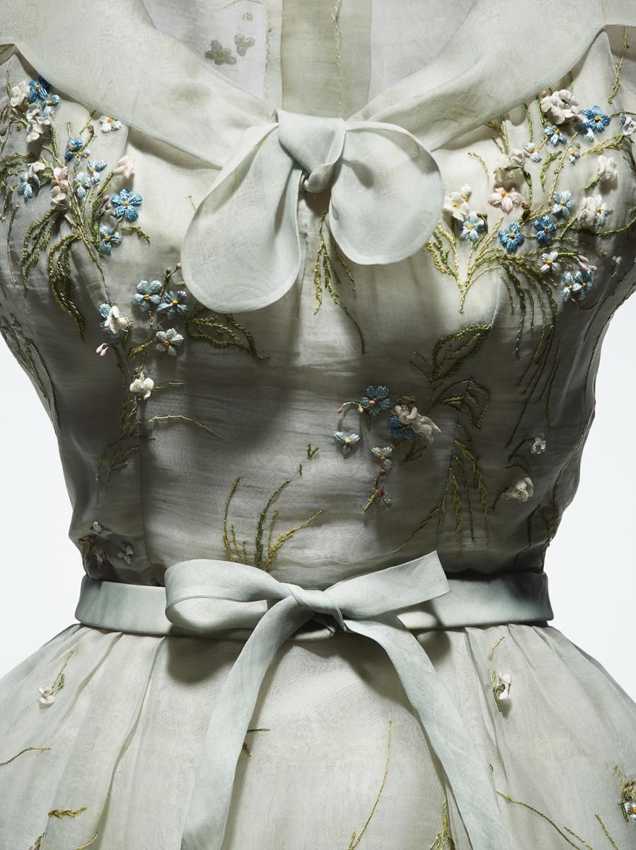 Vestido de Alta Costura primavera-verano 1953, de la colección Dior...