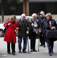 José Ángel Fernández Villa, a su llegada al juzgado de Oviedo donde declaró el pasado marzo.