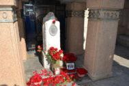 Tumba de Pablo Iglesias, en el Cementerio Civil de Madrid