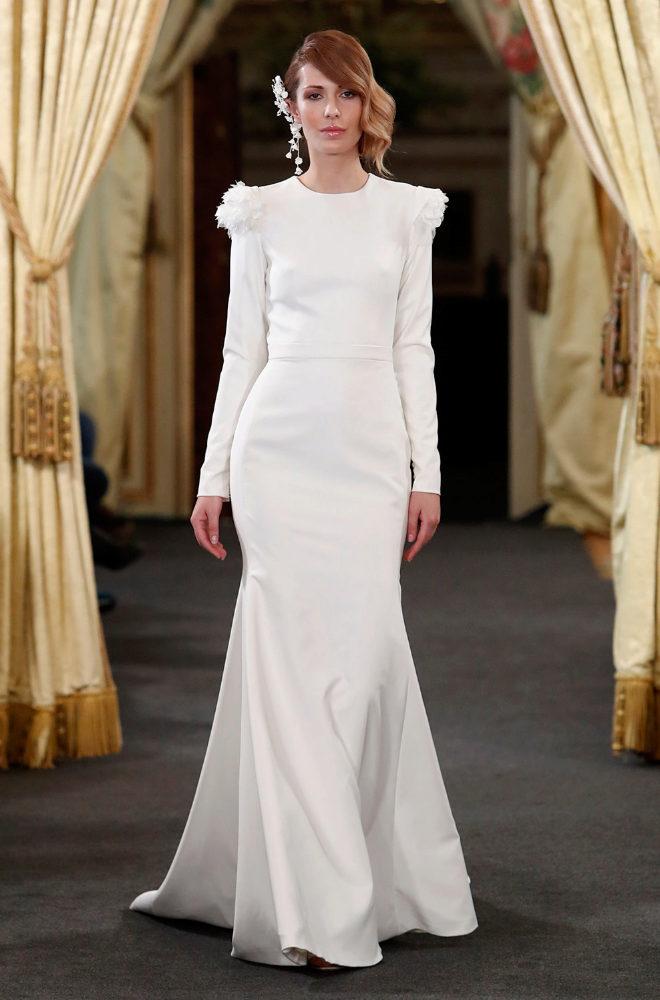 Uno de los vestidos de novia de MJ Suárez.