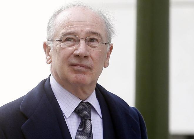 Rodrigo Rato, tras declarar en la Audiencia Nacional.