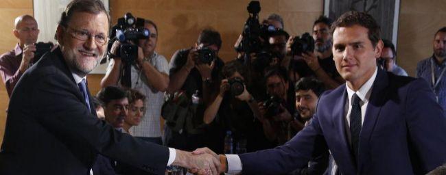 Mariano Rajoy y Albert Rivera, en una reunión de PP y Ciudadanos el...
