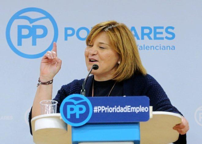 La presidenta del PP valenciano, Isabel Bonig, en un acto del partido.