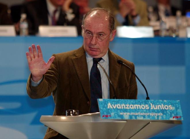 Rodrigo Rato, en la Convención Nacional del PP celebrada en febrero...