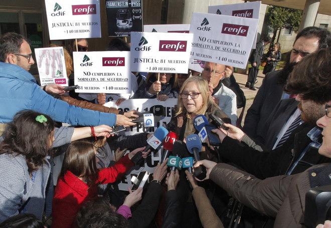 """a portavoz de la """"Plataforma del Víctimas del Alvia 04155"""", Teresa Gomez-Limón"""